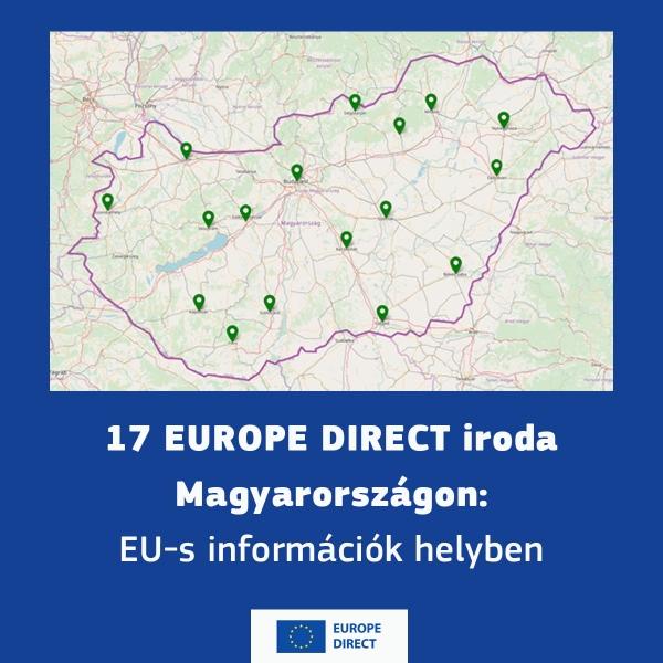 Megújul a EUROPE DIRECT hálózat: Magyarországon 17 újgenerációs EUROPE DIRECT központ tájékoztatja országszerte a lakosságot